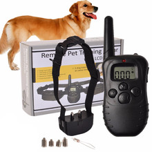 Remote Control No bark Collar Dog Device LCD Electronic Shock Remote Dogs Training Collar Waterproof LCD Pet Dog Trainer Collars