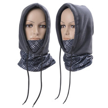 Keep Warm Polar Fleece Hat+Tube Neck Beanies Skullies Balaclavas Motorcycle Cycling Winter Hats Caps Face Mask Scarf