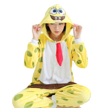 Winter Flannel Pijamas Mujer Hooded Kawaii Spongebob Pajamas Set For Adults Women Selling Best Brand In Chinese Market Online