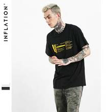 INFLATION 2017 New Arrival Rock Band Printed Hip Hop T shirt Men Summer Black  Men T-Shirts 0334S17