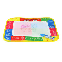 2017 toys for children dolls  29X19cm 4 color Mini Water Drawing rug &1 Magic Pen/Water Drawing board / baby play mat