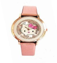 Luxury Gogoey Brand lovely hello kitty watch children girls women crystal dress quartz wristwatch Relogio Feminino kt021(China)