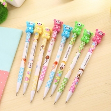 12pcs/lot Cute Little Bear Mechanical Pencils Activity Pencils Children Writing Supplies Office & School Supplies(China)