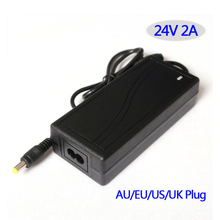 Switching power supply AC/DC adapter 24V 2A 48W Table type EU/USA/AU/UK plug available, please let us know when ordering.(China)