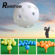 1Pcs 43mm Airflow Hollow Plastic Golf Balls Practice Tennis Golf Balls Aid Training Sports Golf Accessories