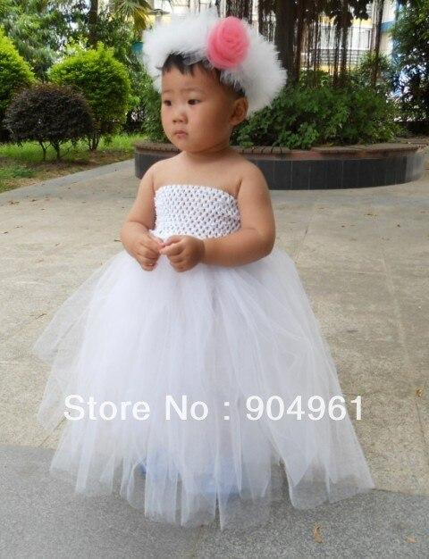 girls birthday dress with a garland 2pcs set party dress girls tutu dress baby dress MOQ 1pc<br>