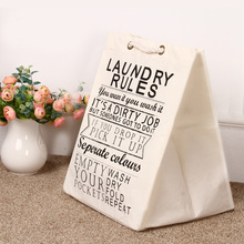 Laundry basket only for children room decoration toys cleared can stand canvas STORAGE BAG bearing 1.5KG top
