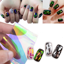 5 Different Colors/set Symphony Broken Glass Pieces Mirror Foil Tips Stencil Beauty Craft Decal Nail Star Art Sticker Cute Tools