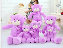 Wholesale  Teddy Bear plush toy  60cm  birthday Valentine's Day gift  Purple Factory outlets plush toy doll  woman Lavender