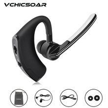 VchicSoar V8 Bluetooth Headset Wireless Earphone V4.1 Ear Hook Voice Control Support 2 Cell Phones at one Time with Microphone