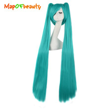 MapofBeauty long Straight 3 pcs cosplay wigs 120cm pink red white 6 colors Synthetic hair High Temperature Fiber Heat Resistant