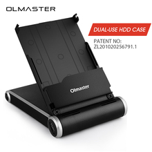 Olmaster Multifunction Dual-use Sata USB 3.0 HDD Case Tool Free 2.5 Inch SSD HDD Enclosure for Notebook PC Hard Disk Drive Box