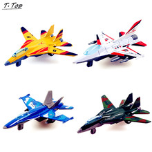 Wheels Mini Cheap Colorful Alloy Pull Back Airplane Fighter Jet Model Educational Toy For Children Kids