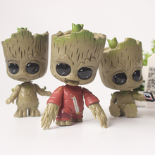 Guardians of the Galaxy 2 Baby Groot PVC Action figure 3 skype Cute Groot Bobblehead Dolls