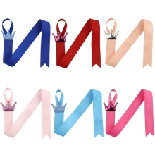 Lovely Crown Hairbow Holder Hair Clips Hanger Hair Ribbons For Girls Hair Accessories Boutique Hair Bow Storage(China)