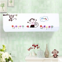Indoor 1.5p Wall Mounted Air Conditioner Cover Decoration Hood Embroidery 80x20 / 86x20 / 92x18cm Monkey Floral(China)