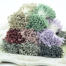 350pcs 5mm Artificial Mini Stamen Matte Handmade  Flowers For Wedding Party Home Decoration DIY Gift Box Wreath Decoration