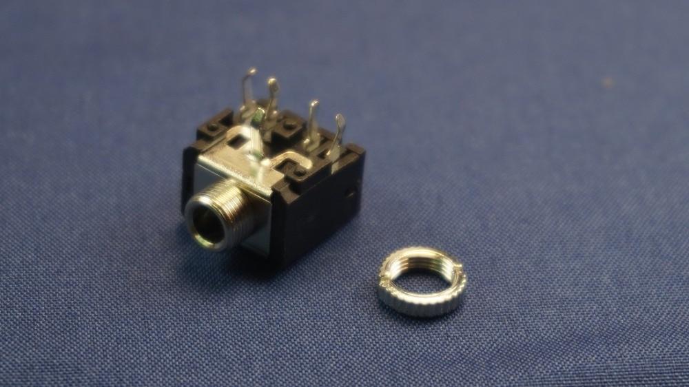 20 шт. штекер для телефона 3 5 мм pin стерео аудио разъем полюсов наушников сквозное