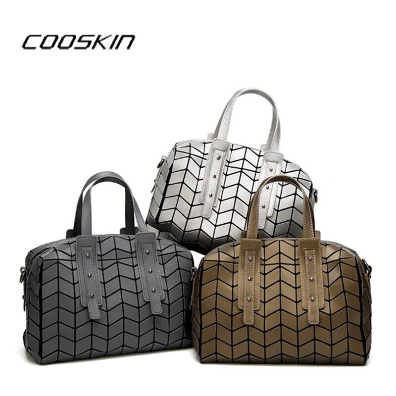 2017 Famous Brands Women BaoBao Bag Geometry Sequins Mirror Saser Plain Folding Bags Luminous Handbags PU Casual Tote Bao Bao <br>