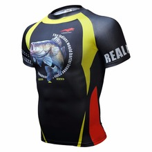 Cycling boutique man short sleeve T-shirt is tight t-shirts for fitness fish 3 dt T-shirt bikeing products(China)