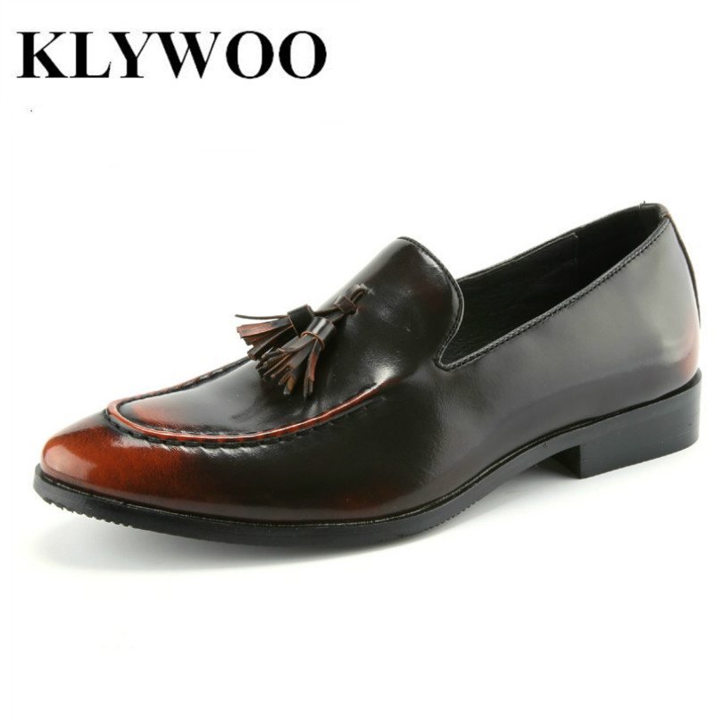 New Brush Oxford Shoes for Men Slip on Pointed Toe Fringe Oxfords Men Shoes Leather Causal Formal Men Dress Shoes Zapatos Hombre<br>