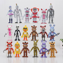 6pcs/set Five Nights At Freddy's 4 FNAF figure Foxy Gold Freddy Chica Freddy Sister Location PVC Figure toys model doll