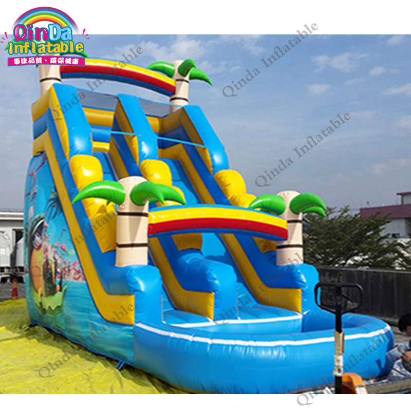 inflatable water slide with pool184