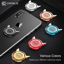 CAFELE Luxury Finger Ring Mobile Phone Universal Stand Holder For iPhone X 8 7 6 Samsung Note8 S8 Xiaomi Huawei All Smart Phone(China)