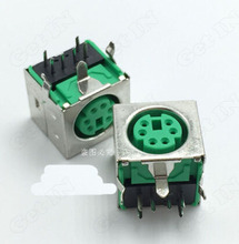 Green PS2 Keyboard Mouse Jack S Terminal Connector Female Socket 6 Core PS2 6P Terminal full Cover Socket High Quality(China)