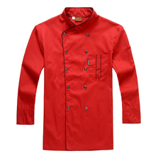 Long sleeved autumn hotel chef uniform chef jacket wear double breasted chef clothing