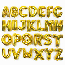 TSZWJ  30inch Gold A - Z Optional Letter Balloon Aluminum Foil Helium Balloons Birthday Wedding Party Decoration Celebr