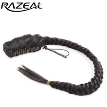 "Razeal Women Natural Long Curly Blonde Black Brown 20"" 50 Cm 120g Braided Ponytail Hair Pieces"