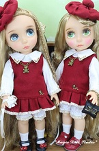 "[DY110]2017 New 16"" Disyne Doll Dresss # Hand Made Preppy Style Red Dress Set for 16 inch Disyne girl doll clothes for retail"