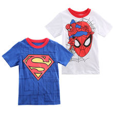 2017 Toddler Infant Baby Boy Novelty Short Sleeve T shirt Classic Cartoon Printed Costume Tees Tops