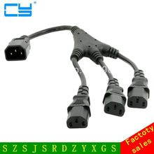 20cm IEC C14 Male to 3 Three C13 Female Y Type Splitter Extension Cable(China)