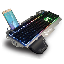PK900 English and Russian RGB Backlit Wired Gaming Keyboard Transparent Switch Mechanical Similar Typing Gaming Experience (China)
