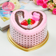 Small gift married birthday gift cake towel big heart gift box