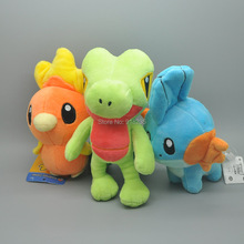 "Free Shipping Plush Doll 5.5-7"" Mudkip Torchic Treecko Soft Animal Dolls For Children Stuffed Toys"