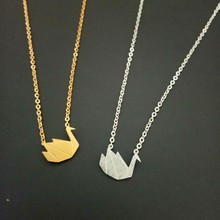 10pcs Choker Collier Dainty Origami Swan Necklace Charm Mom Gift Stainless Steel Long Chain Elegant Women Infinity Love Jewelry