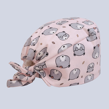Hospital dental clinic Pediatrician pure cotton medical cap surgical cap pink little bear printing medical accessories(China)