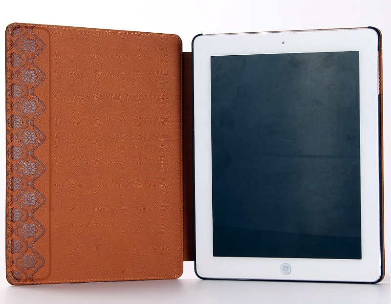 brown leather case for iPad Air tablet case