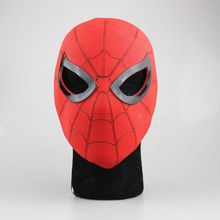 Huong Spiderman Cosplay Mask Figure Toy Latex Full Face Mask Adult Spider Man Party Props Costume Rubber Masks Toys(China)