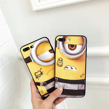Buy Relief Cute Yellow Minions Cartoon Fundas Matte Soft Capa Phone Case Full Cover New Apple iPhone 8 8 Plus Protective Coque for $4.32 in AliExpress store