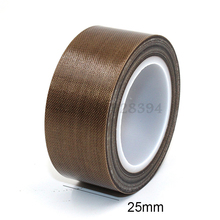 1 Roll High Temperature PTFE Teflon Adhesive Tape 25mm x10meter * 0.13mm(T)
