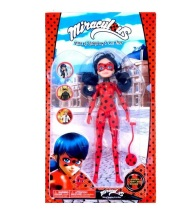 NEW 11inches Miraculous Ladybug Girl Doll Musical Light Movable Joints Toys Action Figure Brinquedo Toy Kids Birthday Gift(China)