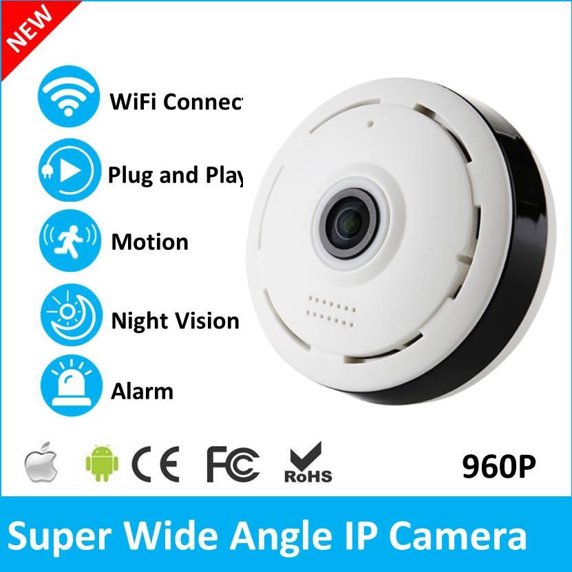 Wholesale 20PCS 360 Degree VR Panorama Camera HD 960P  WIFI IP Camera Home Security Surveillance System  Webcam CCTV V380<br>