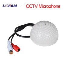 LOFAM Mini Audio CCTV Microphone Surveillance Wide Range Sound Voice Pick up Audio Monitor for Security Camera DVR