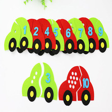 ZY DIY So Cute Kids Early Learning Numbers Car Vehicle Nonwoven DIY Felt Fabric DIY Handmade Sewing Fabric(China)