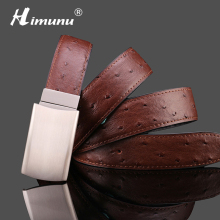 HIMUNU 2016 Ostrich grain Genuine leather Belt for men Mens Famous Designer Belts Designer Luxury Designer Belt men SD0065