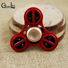 GonLeI Marvel Avengers Super Heroes Deadpool Tri-Spinner Fidget Toy Metal EDC Fidgets Hand Spinner Autism And ADHD Kids Gift Toy